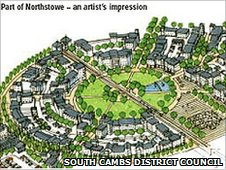 Artist's impression of planned Northstowe