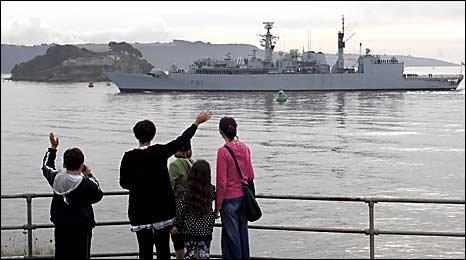 HMS Cumberland deploys. Picture MoD