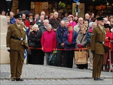 People mark Remembrance Day in Taunton
