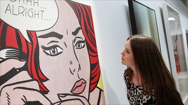 Roy Lichtenstein painting