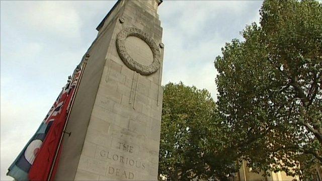 Lutyens' cenotaph at Whitehall