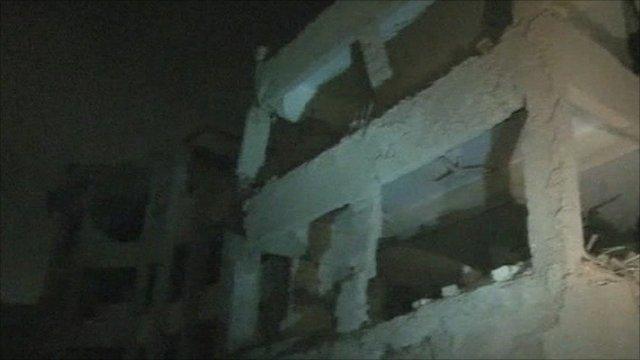Blast scene in Karachi