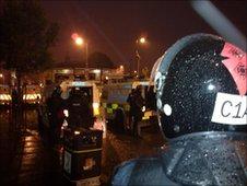 Riot police in Ardoyne