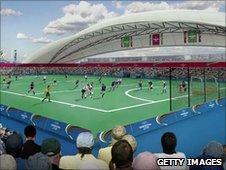 Artist's impression of hockey at London 2012
