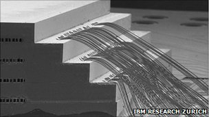 Interlayer cool chip stack (Pic: IBM)