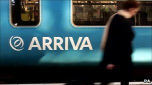 An Arriva Trains carriage