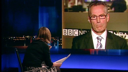 Kirsty Wark and Sinn Fein's policing and justice spokesman Gerry Kelly