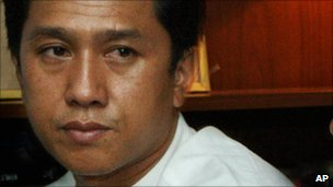Kyaw Min Yu (Ko Jimmy) in an image from 9 October 2006