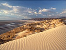 Ynyslas sand dunes