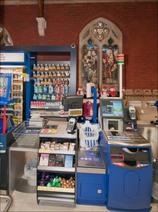 Till inside new Tesco store in former church
