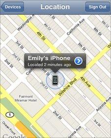 Apple iPhone screen grab