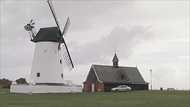 Lytham windmill, with its broken sail