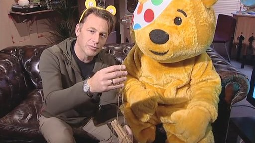Chris Packham and Pudsey Bear