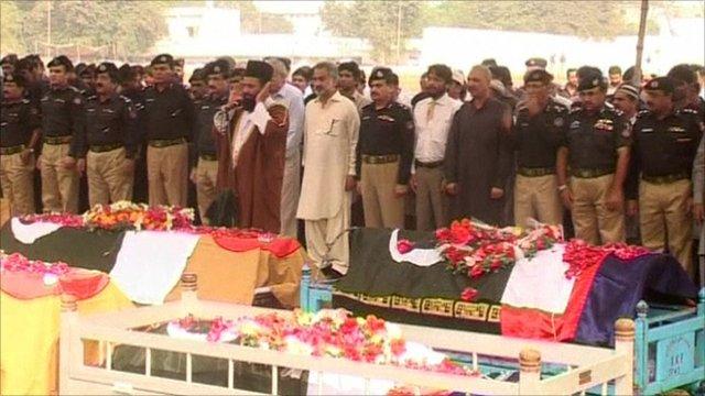 Funeral of eight policemen