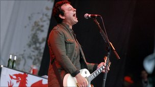 James Dean Bradfield performs at the Glastonbury Festival