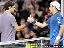 Roger Federer and Jurgen Melzer