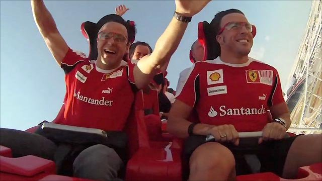 Felipe Massa (left) and Fernando Alonso
