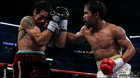 Pacquiao won every round against Margarito in Dallas