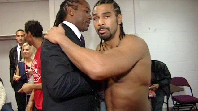 Lennox Lewis and David Haye