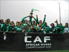 Nigeria celebrate winning the 2010 African Women's Championship