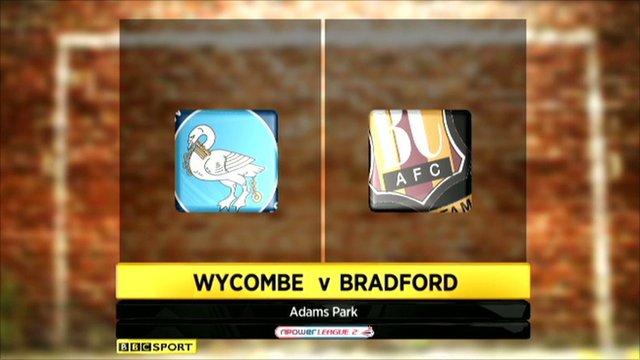 Highlights - Wycombe 1-0 Bradford