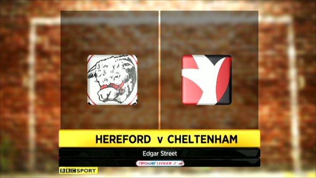 Highlights - Hereford 1-1 Cheltenham