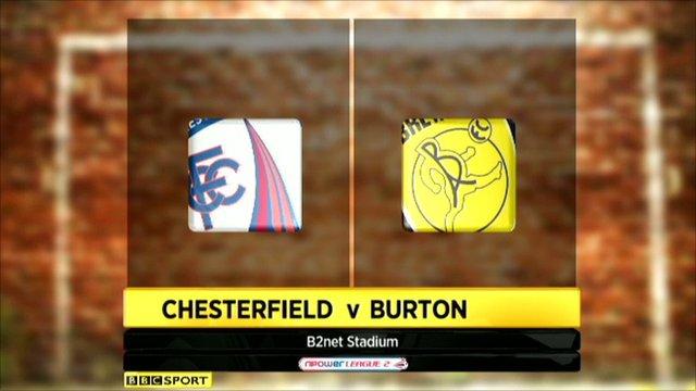 Highlights - Chesterfield 1-2 Burton Albion