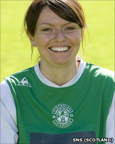 Laura Kennedy was on target for Hibernian