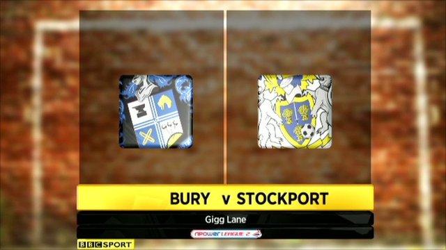 Highlights - Bury 0-1 Stockport