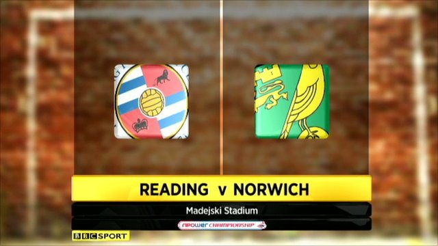 Highlights - Reading 3-3 Norwich