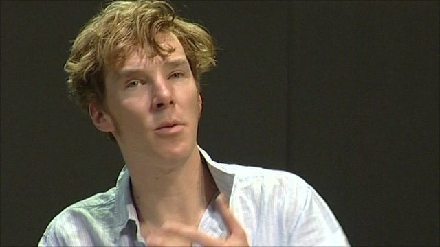 Benedict Cumberbatch rehearsing for The Children's Monologues