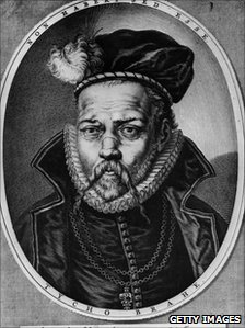 A portrait of Tycho Brahe, thought to have been made around 1600