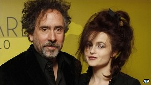 Film Director Tim Burton and actress Helena Bonham Carter