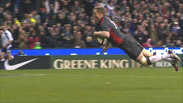 Chris Ashton touches down for England