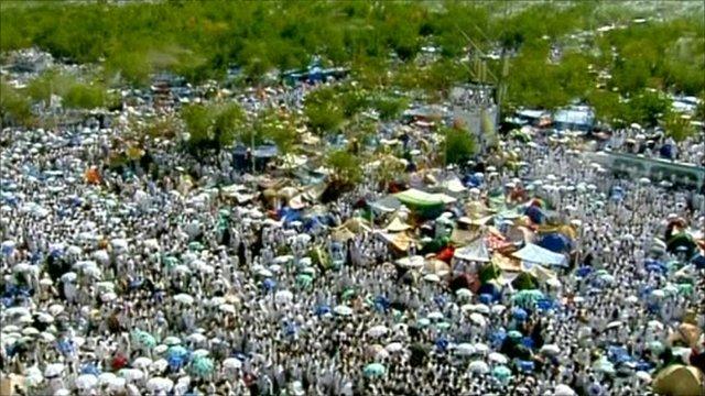Pilgrims flock to holy site
