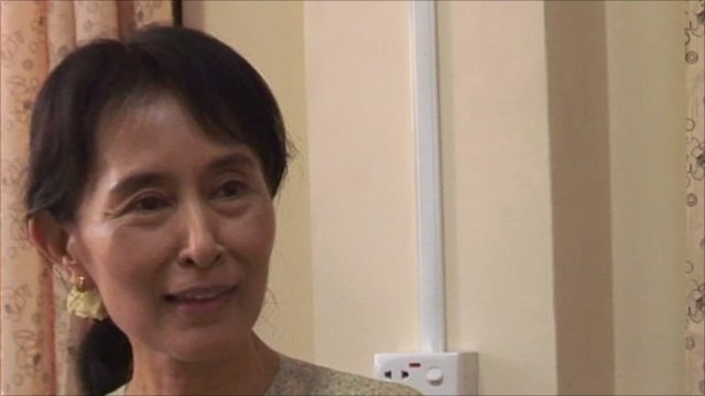 Aung San Suu Kyi speaks to the BBC