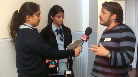 School Reporters at Villiers High interview Richard Herring