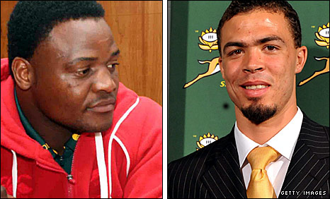 South Africa duo Chiliboy Ralepelle and Bjorn Basson