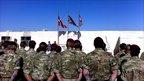 Memorial service in Helmand province, Afghanistan. Photo: Lee O'Sullivan