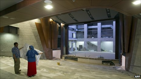 A new performing arts centre in the West Bank Jewish settlement of Ariel, 8 November