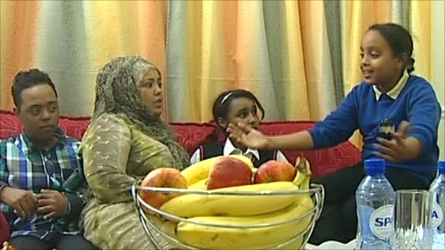 Members of the Somali community in the UK