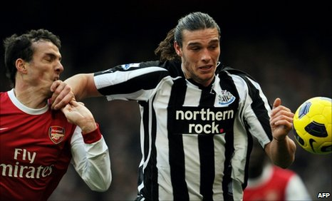 Sebastien Squillaci and Andy Carroll