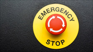 Stock photo of emergency stop button