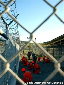 Guantanamo Bay prisoners File pic: 2002
