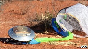 The sample capsule fell back to Earth in Australia