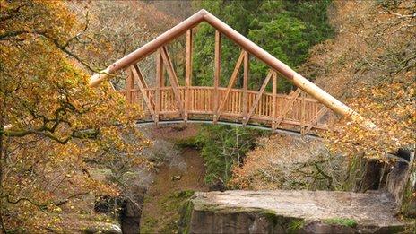 Bracklin Falls bridge