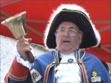 Town crier at Blaenavon World Heritage Day