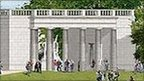 Artist's impression of what the monument will look like
