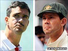 Kevin Pietersen and Ricky Ponting