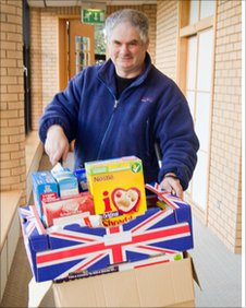 Keith White, a volunteer with Foodbank for Kerith Community Church